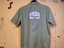 HAMM'S BEER DELIVERY GUY WORK SHIRT DICKIES LARGE 🍺🍺🍺🍺🍺🍺🍺🍺