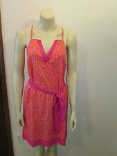 Pink Orange Lattice Print Racer-back Tunic and Head Wrap, Size Small (4-6), NEW