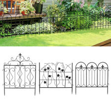 Garden Fence Black Folding Wire Patio Fencing Border Edging Flower Barrier Decor