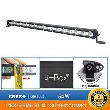 Opar 19inch 54W LED 4500LM Slim Work Lights Bar Off Road Spot Flood Combo