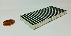 """10-100 NEODYMIUM magnets 1-1/2""""×1/4""""×1/8"""" Strong Rare Earth magnets N52 Grade"""