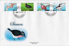 Samoa 2013 FDC Threatened Species Definitive 12v Set on 3 Covers Birds Bats