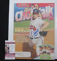 John Smoltz Signed Magazine Atlanta Braves Chop Talk 2004 Inscribed 96 JSA COA