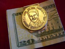 Money Clip:  ELVIS Presley brass token on Nickel
