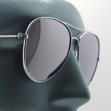 Classic Aviator Sunglasses Silver Metal Frame Sun Shade UV