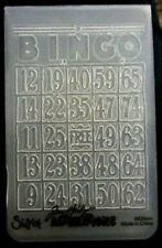Sizzix carpeta de grabación en relieve Mini tarjeta de bingo se ajusta Cuttlebug & Wizard Tim Holtz