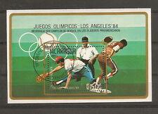 NICARAGUA 1984 JEUX OLYMPIQUES ETE LOS ANGELES BASE BALL BLOC FEUILLET OBLITERE