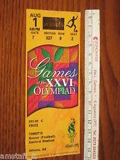 # USA CHINA (NORWAY BRASIL 3°PLACE) TICKET ENTRADA FINAL OLIMPICS WOMEN'S 1996