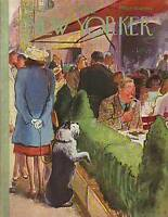 1946 New Yorker August 17 - Sheepdog begs of the diner