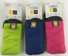 Case Logic WUP1 Universal Pouch, Set of 6 (2 Blue, 2 Lime & 2 Pink)