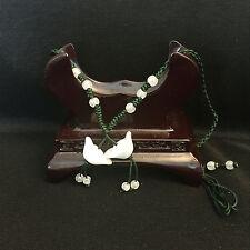 Elegante hecho a mano señoras Oriental Chino Jade lingotes Ajustable Collar jneck 4