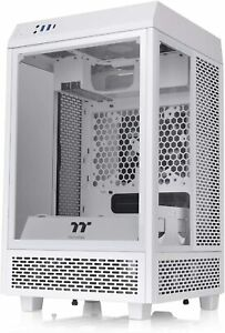 Thermaltake The Tower 100 Snow Edition Mini Tower PC Case with 3 Tempered Glass