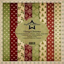 "Vintage Christmas Paper Favourites 12"" x 12"" Paper Pack"