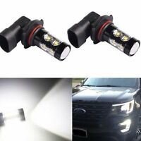 JDM ASTAR 2x 50W H10 9145 LED White Fog DRL Running Lights Bulbs CREE High Power