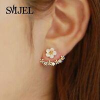 Earrings Stud Cherry Flower Jewelry Womens Blossom Blossoms Silver 925 Elegant