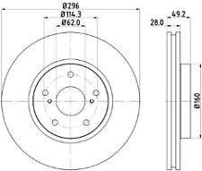 Fits Lexus IS250 GSE20 Arrière 2.5 09 To 15 310 mm Set de qualité Paire 2x Disques De Frein
