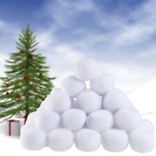 50x Home Christmas Decor Snow Ball Fight Plush Snowball Indoor Party Toy Fun 7CM