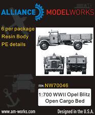 Alliance Model Works 1:700 WWII German Opel Blitz Open Cargo Bed (6pc) #NW70046*