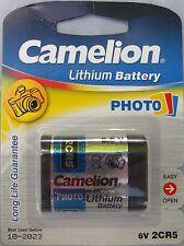 2 x 2cr5 per fotocamera al litio batteria della fotocamera 6v ad alta potenza cella