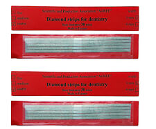 Lot x2 Dental Abrasive Diamond STAINLESS STEEL Strips finishing polishing 3mm