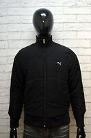 PUMA Uomo 44 Giacca Giubbotto Nero Cappotto Giubbino Piumino Jacket Man Black