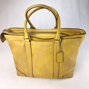 Coach Golden Yellow Bleecker Legacy Business Travel Bag #70600