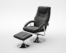 MCA TV Sessel mit Hocker Fernsehsessel Relaxsessel Florida Kunstleder schwarz