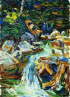 Oil Painting Reprint On Canvas Waterfall II by Wassily Kandinsky
