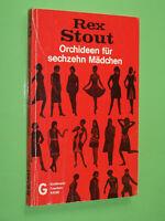 Orchideen für sechzehn Mädchen - Rex Stout - Goldmann Krimi TB (141)