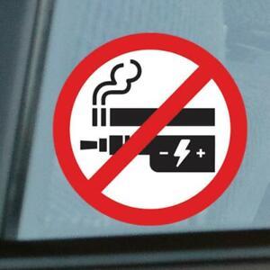 12 x No Smoking Vaping Stickers 50mm Waterproof Vinyl Signs Window Car Taxi Shop