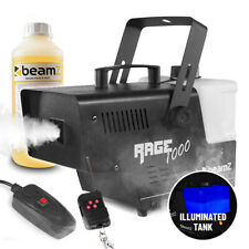 Smoke Machine 1000w Fog Mist Effect, Wireless Remote & 1L Fluid Halloween Theme