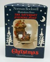 Details about  /CHRISTMAS PHOTO ORNAMENT NORMAN ROCKWELL SATURDAY EVENING POST SANTA L@@K