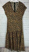 ZARA WOMAN Womens' Leopard Short Sleeve Dress Size XS