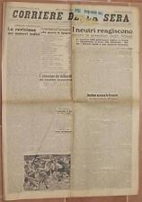 CORRIERE DELLA SERA 30 MARZO 1940 AEREONATICA CENTRO MANZONIANO SHETLAND PAESTUM