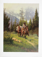 G Harvey SPRING IN THE TETONS Lithograph Signed Numbered Limited Edition Print