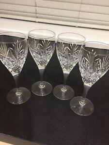 4 X  EDINBURGH CRYSTAL WINE GLASSES EXCELLENT CONDITION