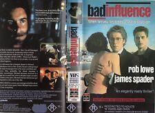 BAD INFLUENCE - Lowe & Spader -VHS -PAL -NEW -Never played! -Original Oz release