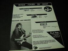 Michael Lee Firkins monumental new guitar talent 1990 Promo Poster Ad mint