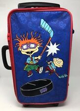 Vtg 1997 Nickelodeon Rugrats Kids Rolling Suitcase Bag Carry On Tommy Chuckie