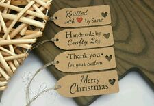 Personalised craft labels product tags thank you tags set x32