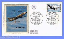 1973//ENVELOPPE SOIE**FDC 1°JOUR**AVION AIRBUS A 300 B/TOULOUSE**TIMBRE Y/T 1751