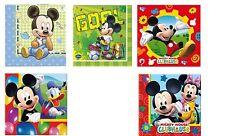 20 Party Napkins - DISNEY Mickey Mouse Designs - Birthday Tableware Kids