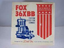 Vintage NIB Fox 36X BB Model Airplane Engine