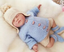 DK PATTERN 14-20inch 0-3 mth to 12 month cardigan hooded /& Hat 144
