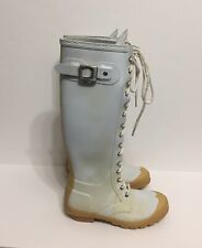 Tall Hunter Rain Boots Off White Women's Size 5