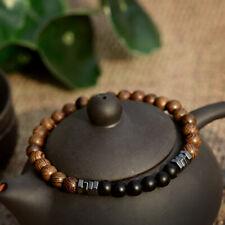 8mm Natural Stone Wood Hematite Bead Meditation Healing Power Bracelets Jewelry