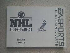 NHL Hockey 94 Manual - Sega Mega Drive - NO GAME MANUAL ONLY (PAL)