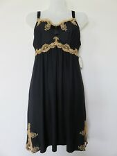 Soma Intimates LE Decadence Chemise DG Short Gown Black Sz M  $79