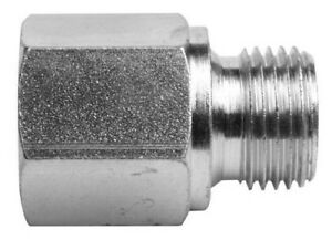 Hydraulic Adaptor. Equal BSPP Male  60° Cone x BSPP Fixed Female Extended.
