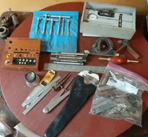 LOT of MEASURING TOOLS starrett brown sharpe lufkin dial gauge machinist layout